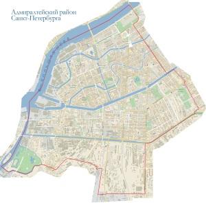 Карта Адмиралтейского района СПб. Компьютерная помощь в Адмиралтейском районе
