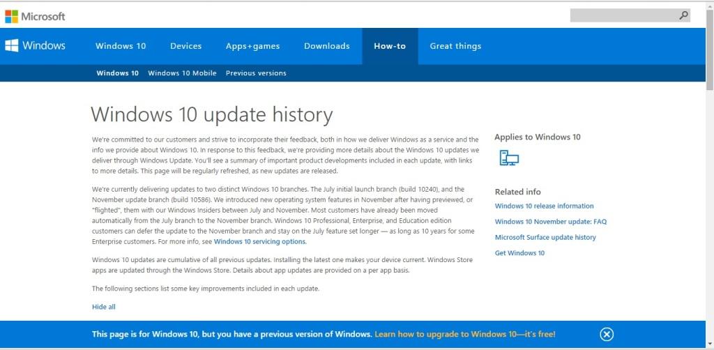 Обновления Windows 10 - Microsoft раскрывает карты