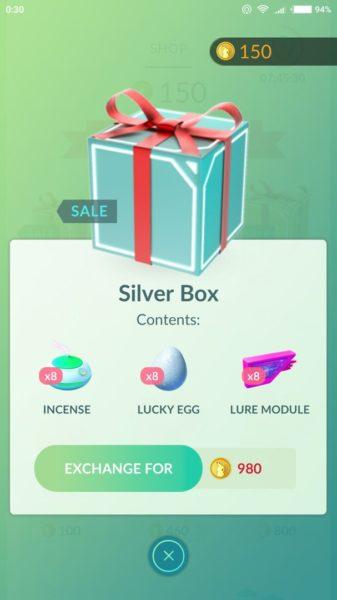 подарок за 980 монет. Изменения в Pokemon GO 31.12.16: новые подарки и заставка
