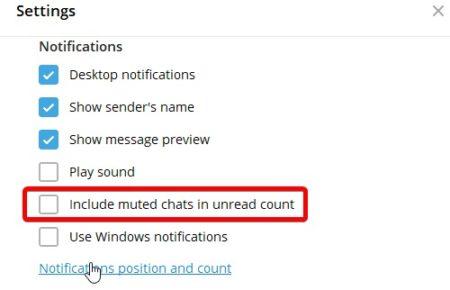 избавляемся от уведомлений в Телеграм