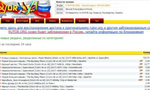 Доступные торрент-трекеры без регистрации: ТОП-10