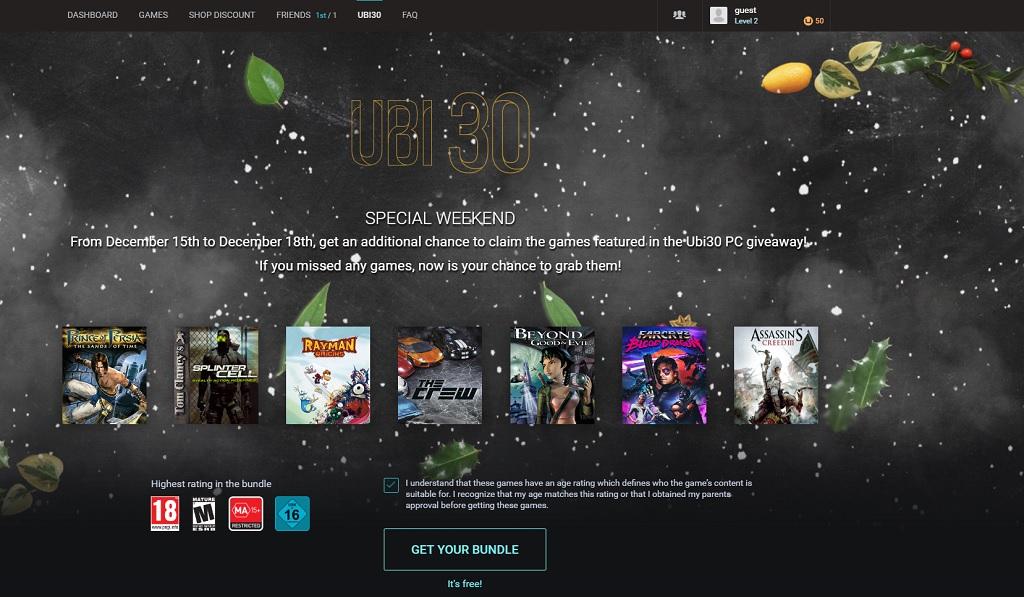 Выходные бесплатных игр от Ubisoft: Far Cry 3, Assassin's Creed 3 и др.