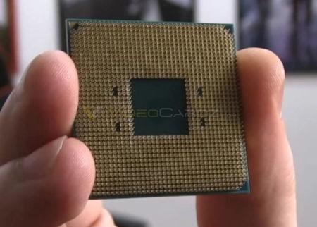 Оборотная сторона процессора AMD Ryzen