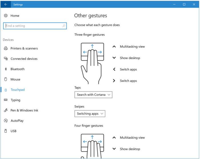 Распознавание жестов. 10 полезных фишек Windows 10 появится в апреле 2017