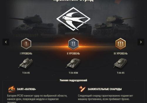 подразделение крылатый отряд World of tanks