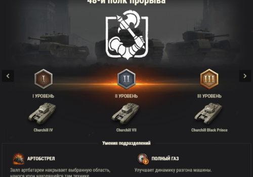 подразделение 48-й полк прорываWorld of tanks