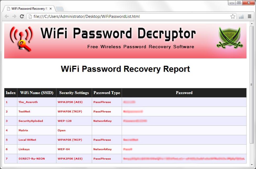 как узнать пароль от вайфая